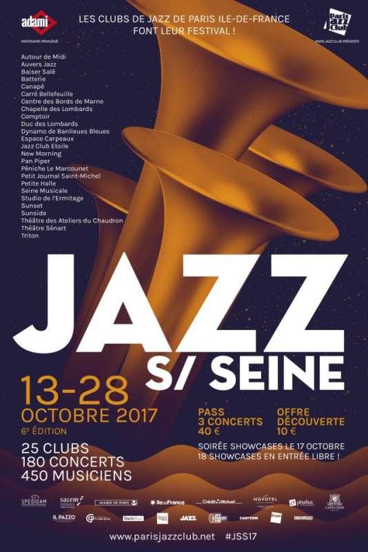 Affiche du festival Jazz sur Seine, jusqu'au 28 octobre.