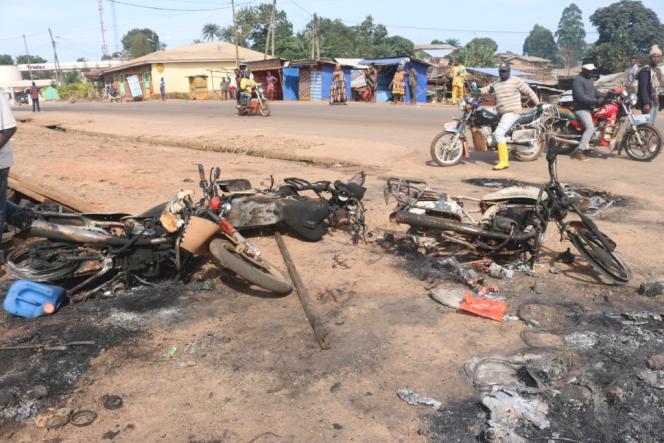 A Bamenda, après les manifestations du 1er octobre 2017, où les deux régions anglophones du Cameroun ont déclaré leur indépendance symbolique.