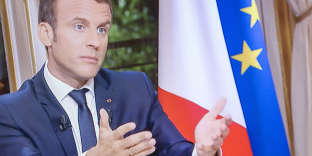 Emmanuel Macron, président de la république, sur TF1, dimanche 15octobre.