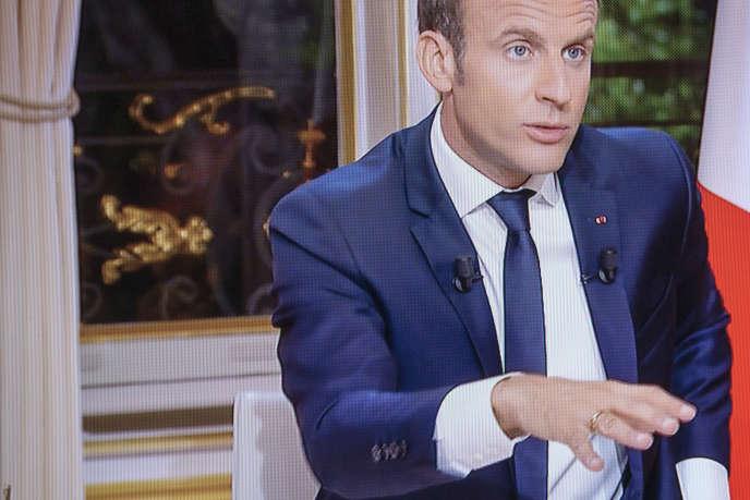 Emmanuel Macron le 15 octobre 2017.