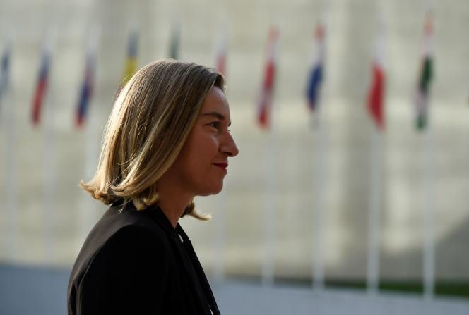 Federica Mogherini à Luxembourg, le 16 octobre.