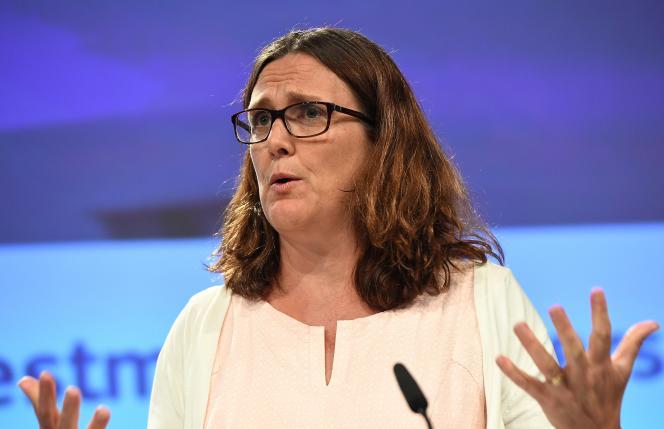 La Commissaire européenne au commerce, Cécilia Malmström, à Bruxelles, le 26 juin.