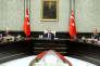 Recep Tayyip Erdogan lors d'un conseil de sécurité, à Ankara, le 16 octobre.