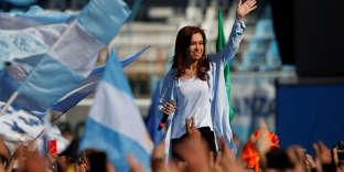 Cristina Kirchner, à Buenos Aires, le 16 octobre.
