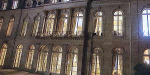 Façade du palais de l'Elysée donnant sur le parc, filmée par TF1, le 15 octobre.