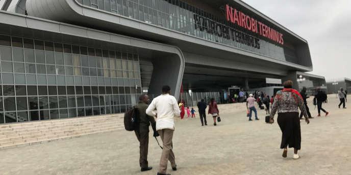 Le terminus de la ligne Mombasa-Nairobi, au Kenya, construite et financée par le gouvernement chinois.