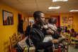 Sans-abri et en attente de réponse pour sa demande d'asile, Mamadou F. au centre d'Emmaüs International, à Paris, le 16 octobre.