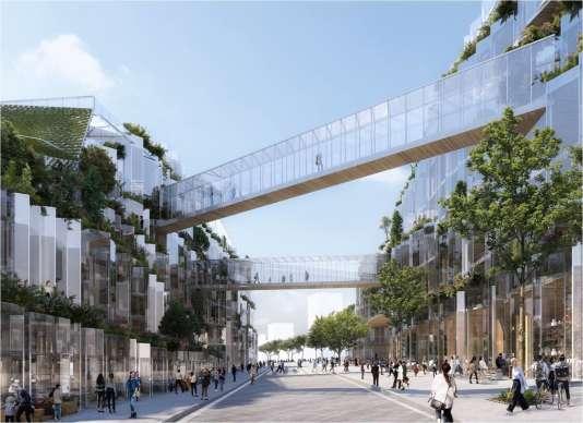 La Compagnie de Phalsbourg propose de faire du quartier du Coteau à Arcueil au croisement de la A6a et de la A6b un« Ecotone», un lieu entre ville et nature