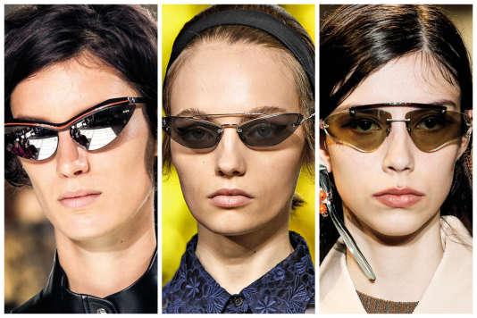 De gauche à droitre : Louis Vuitton, Miu Miu,Acne.