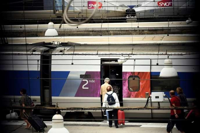 En gare Montparnasse, à Paris, le 1er août.