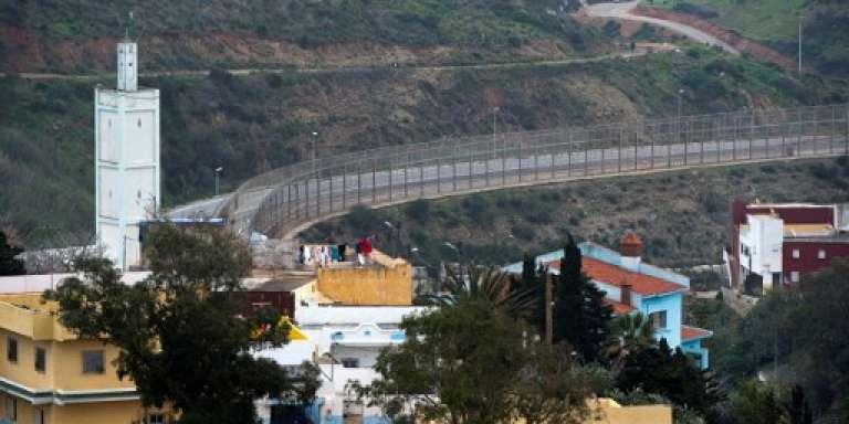 La frontière entre le Maroc et l'Espagne, à Ceuta, en février 2017.