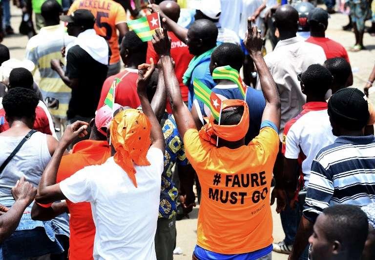 Manifestation du 6 septembre 2017 à Lomé, capitale du Togo.
