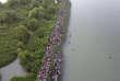 A la frontière entre la Birmanie et le Bangladesh, un drone filme l'exode des Rohingya, à la mi-octobre 2017.