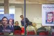 Le député de la Haute-Vienne, Jean-Baptiste Djebbari (LRM), en réunion publique à Saint-Junien, le 13 octobre.
