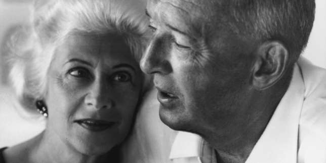 Véra et Vladimir Nabokov en Suisse, en 1968.