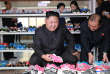 North Korean leader Kim Jong-Un visits a shoe factory in this undated photo released by North Korea's Korean Central News Agency (KCNA) in Pyongyang on October 19, 2017. KCNA/via REUTERS ?ATTENTION EDITORS - THIS IMAGE WAS PROVIDED BY A THIRD PARTY. REUTERS IS UNABLE TO INDEPENDENTLY VERIFY THIS IMAGE. NO THIRD PARTY SALES. SOUTH KOREA OUT. NO RESALES. NO ARCHIVES