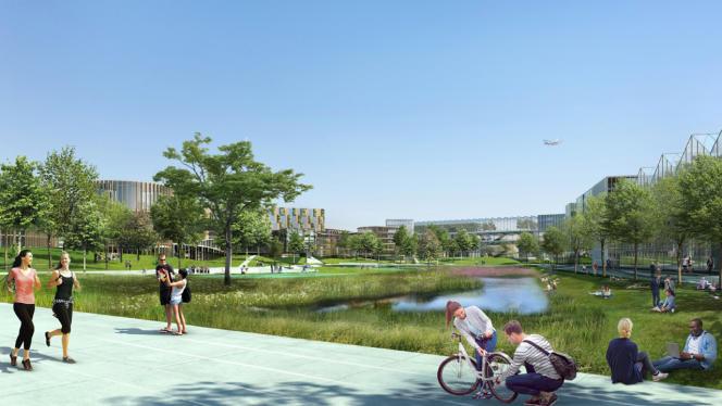 Sur 15 hectares du Triangle de Gonesse, BSI ambitionne de développer un quartier démonstrateur de l'économie circulaire, notamment dans le domaine du réemploi de matériaux de construction