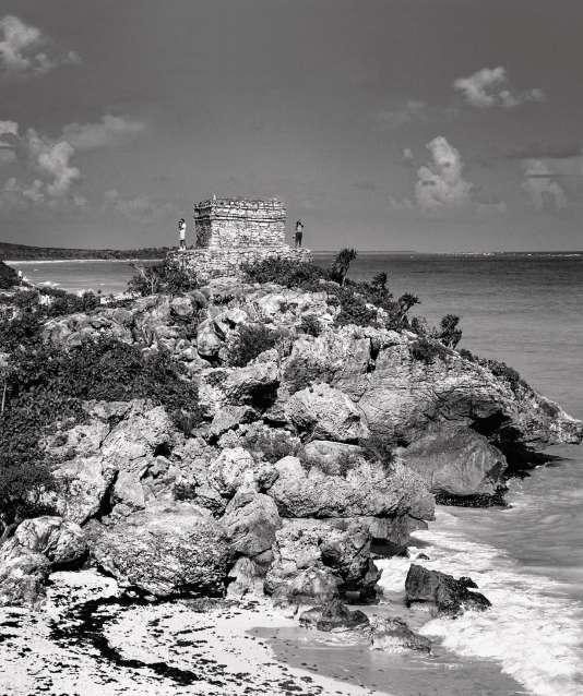 Sur le site de Tulum, des ruines mayas.