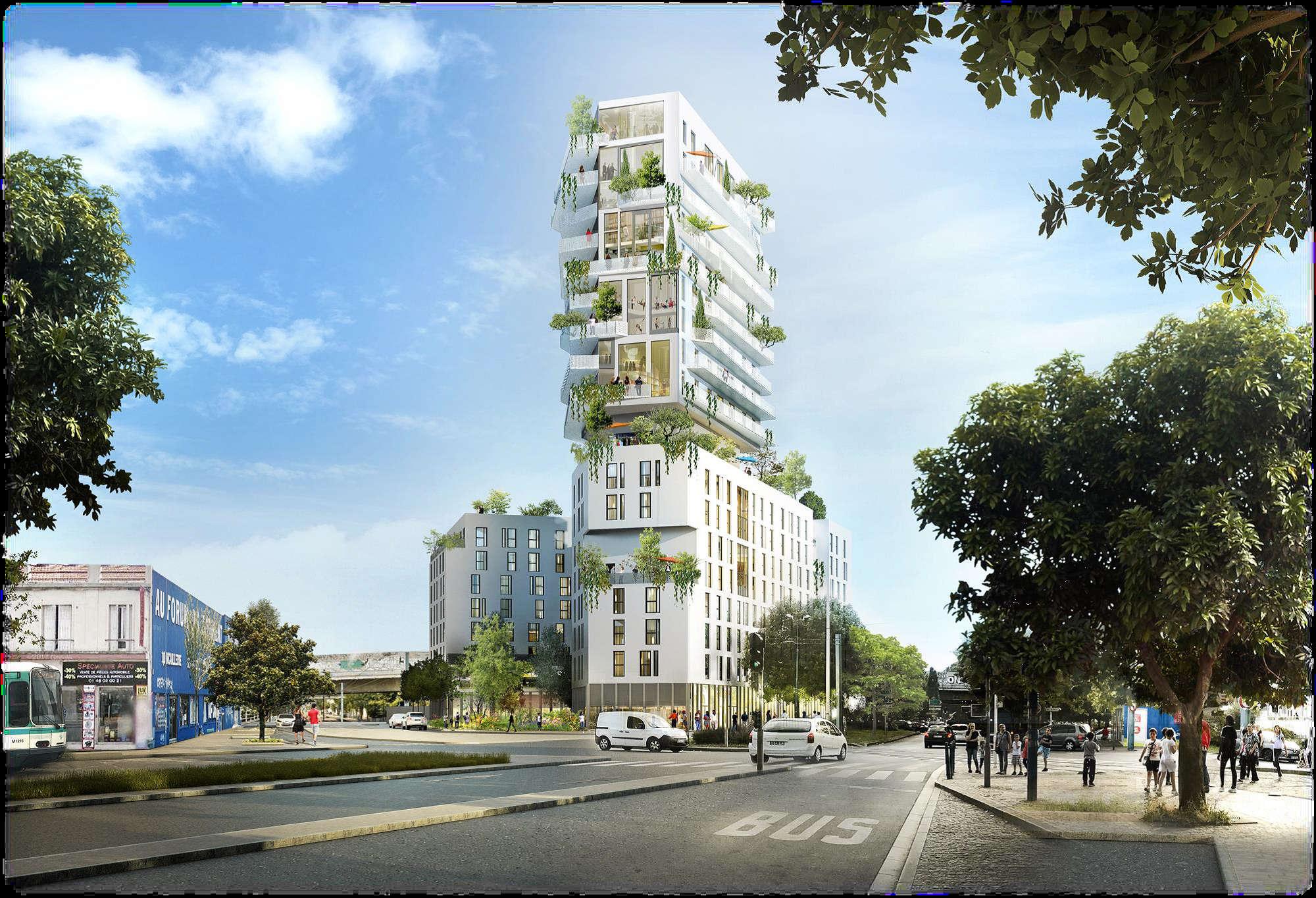 A Noisy-le-Sec, à proximité de la future gare du Pont-de-Bondy (ligne 15 Est), le projet, proposé par Linkcity Île-de-France, accompagné des architectes de l'Agence Castro Denissof & Associés et Land'Act, propose la construction d'un bâtiment multi-usages de 7 étages, avec la possibilité d'être surélevé de 10 niveaux.