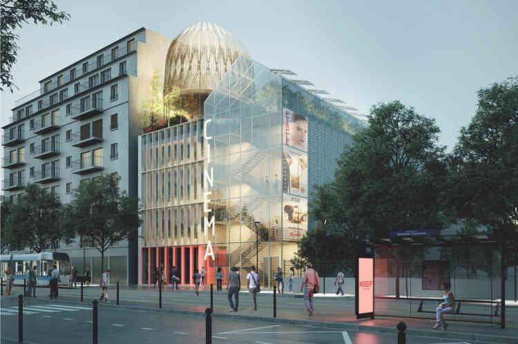 Le projet de Rueil-Malmaison, porté par OCDL – Groupe Giboire, et conçu par l'architecte Nicolas Michelin -combine le relogement d'un cinéma, un tiers-lieu, des commerces et huit logements.