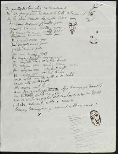 Cet acte poétique - véritable poésie sonore - rend compte des liens entre les aspirations du mouvement dada et l'appropriation des arts dits« nègres».