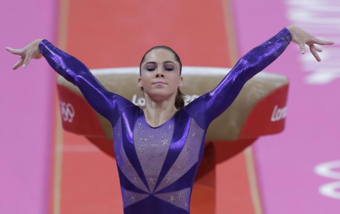 McKayla Maroney lors des Jeux olympiques de Londres, où elle avait remporté une médaille d'or et une médaille d'argent.