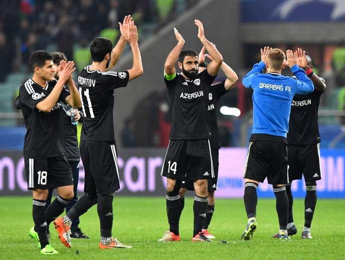 Les joueurs de Qarabag, qui s'appuie sur une ossature originaire d'Agdam,ont remporté le premier point de leur histoire en Ligue des champions face à l'Atletico.