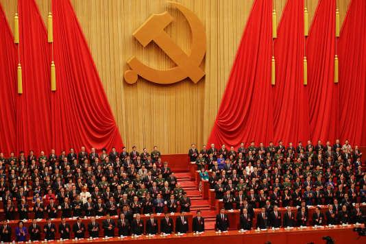 L'ouverture duXIXe Congrès du Parti communiste chinois à Pékin.