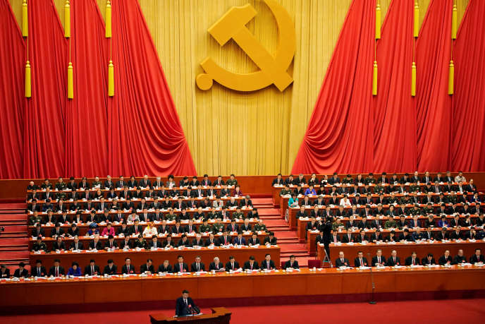 Xi Jinping, au 19e congrès du Parti communiste chinois, à Pékin, le 18 octobre.