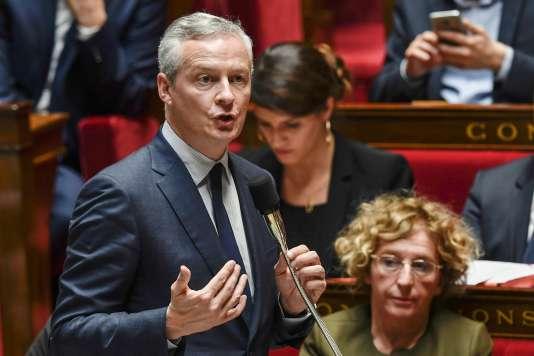 Bruno Le Maire pour les questions au gouvernement à l'Assemblée nationale, le 18 octobre 2017.