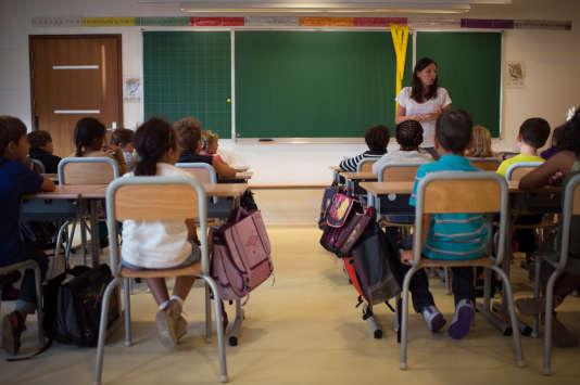 Dans une école primaire à Paris, en septembre 2013.