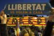 Manifestation sur l'avenue Diagonal de Barcelone pour réclamer la libération des dirigeants indépendantistes Jordis Sanchez et Jordi Cuixart, le 17 octobre.