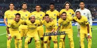 Le onze du PSG avant le début du match de C1 contre Anderlecht, merdredi 18 octobre à Bruxelles AFP/ Emmanuel DUNAND