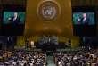 Donald Trump à la tribune de l'Assemblée générale des Nations unies, à New York, le 19septembre.