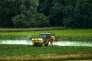 Ependage de pesticides dans les Hauts-de-France en 2015.