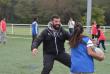 Antoine Gomez, un ancien joueur professionnel participe à ce projet d'implantation du rugby à Grigny.