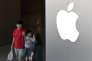Devant un Apple Store, à Pékin, le 30 juillet.