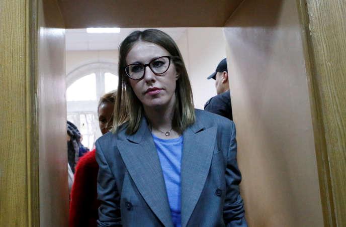 Ksenia Sobtchak à Moscou, le 17 octobre.