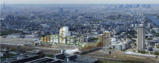Image du projet retenu pour le carrefour Pleyel à Saint-Denis (Seine-Saint-Denis), autour de ce qui deviendra la plus grande gare du Grand Paris Express.
