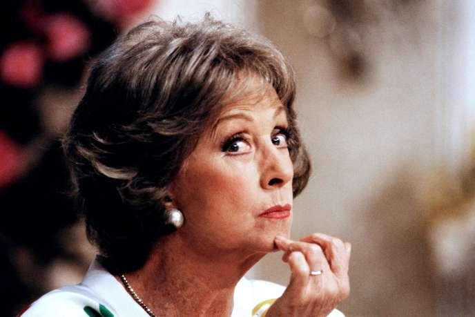 Danielle Darrieux en 1987, lors des répétitions de la pièce
