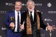 Gilbert Rozon à droite et Bruce Hills le 12 mars 2017 à Toronto au Canada, producteurs de l'émission Juste pour rire.