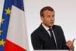 Emmanuel Macron lors de son discoursdevant des hauts responsables de la police et de la gendarmerie, au palais de l'Elysée, le 18 octobre.