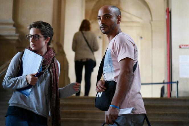Abdelghani Merah, frère ainé de Mohamed Merah, au palais de justice de Paris le 16 octobre.