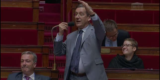 Charles de Courson, député Les Constructifs, jeudi 19 ocotbre à l'Assemblé nationale.