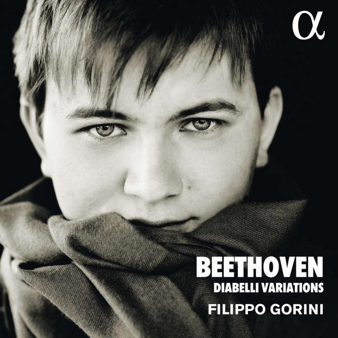 Pochette de l'album«Variations sur une valse d'Anton Diabelli op.120», de Beethoven par le pianiste Filippo Gorini.