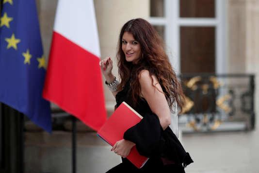 La secrétaire d'Etat chargée de l'égalité entre les femmes et les hommes, Marlène Schiappa, à l'ELysée, le 20 octobre.