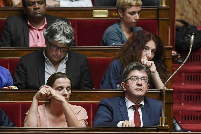 Les députés de La France insoumise, à l'Assemblée nationale, le 18 octobre.