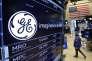 «Aujourd'hui, GE, c'est 300 000 personnes dans le monde, 120 milliards de dollars (103 milliards d'euros) de chiffre d'affaires, un bénéfice net de 7 milliards de dollars et 5 milliards d'investissement par an en recherche et développement !» (Photo : le logo de l'entreprise General Electric sur les écrans de Wall Street. A New York, le 12 juin).