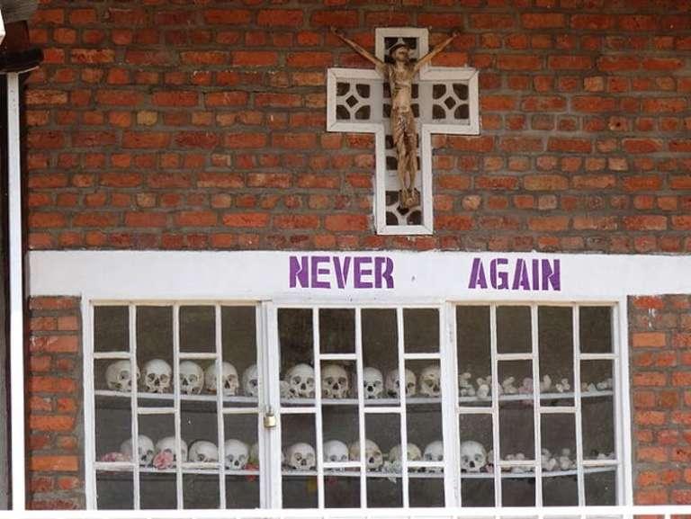 Le mémorial à l'église de Karongi Kibuye, à l'ouest du Rwanda.
