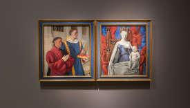 Les deux panneaux du «Diptyque de Melun» (vers 1455), du peintre Jean Fouquet, sont exceptionnellement réunis jusqu'au 7 janvier à Berlin.